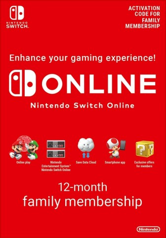 Nintendo Switch Online 12 Months Family Membership (365 Days)